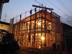 上棟式(狭小快適な家)奈良県橿原市・木の家・秦建築
