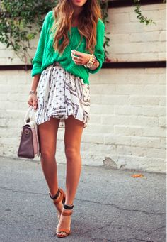 sweater and skirt combo