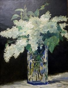 Lilac in a Glass, c. 1882, Édouard Manet (French, 1832-1883), Oil on canvas. Alte Nationalgalerie, Berlin.