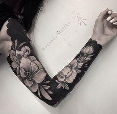 Flower Sleeve Tattoo Artist: S E A N H A L L The Black Lantern