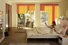 Frische Farbtupfer fürs Fenster  Jedem Raum mit Window Fashion eine individuelle Note geben. Komfortabel: Rollos, die sich elektrisch per Fernbedienung öffnen und schließen lassen, sind nicht nur im Schlafzimmer gefragt. Foto: djd/Ja...