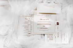 Classic wedding invite with a touch of red and gold details | A Lovely Classic Romantic Wedding with Pink Hues | https://brideandbreakfast.ph/2017/11/03/a-lovely-classic-romantic-wedding-with-pink-hues/