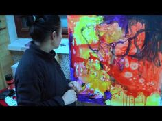 abstract expressionist painter Anna Hryniewicz in her studio - YouTube