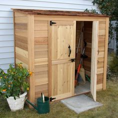 Features:  -No dangerous and time consuming cutting required.  -Manageable panel sizes.  -Minimum tools required to complete your shed.  Color: -Natural Cedar.  Material: -Wood.  Hardware Material: -W
