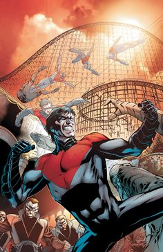 As the first Robin, Dick Grayson was the most famous sidekick in comic book history. As he ventured forth on his own, he formed the Teen Titans and became their leader. When the boy became a man, he became the independent hero known as Nightwing. Dc Comics Characters, Dc Comics Art, Marvel Comics, Superhero Characters, Batwoman, Nightwing, Batman Sidekicks, First Robin, Richard Grayson