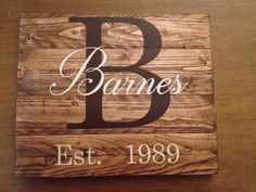 Custom family name sign, wood family sign, custom sign, wood last name sign, wedding gift, pallet wood, rustic family sign, personalized by MittenGirlzDesigns on Etsy