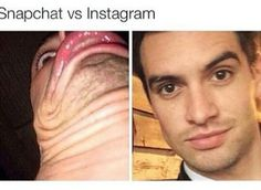 Wtf is the first one Brendon! HOW MANY CHINS DOES HE HAVE. (I bet some people are thinking how can that be that. Magic.)