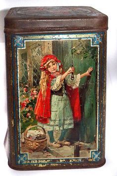 antique red riding hood tin - Google Search