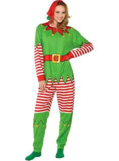 Adult Reindeer One Piece Pajamas - Party City | Christmas ...