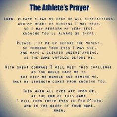 Love this! The athlete's prayer YES