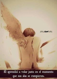 Él aprendió a volar justo en el momento que sus alas se rompieron.