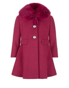 monsoon maggy coat red.