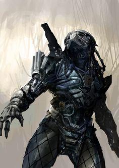 the art of simon robert: Predator design sketches