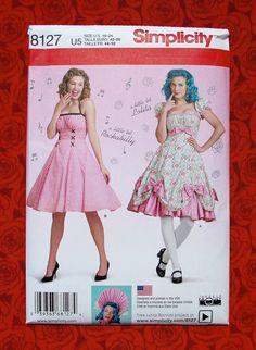 by Simplicity Creative Patterns Simplicity Creative Patterns 8127 Misses Lolita and Rockabilly Dresses 16-18-20-22-24 U5
