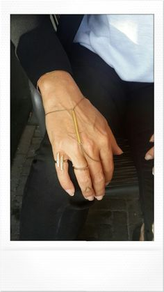 Nice combo...hand bracelet | sun ring | V ring