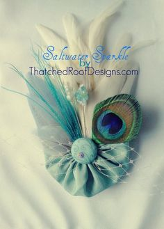 New item: Saltwater Sparkle, Hair Clip is made from a repurposed tie! It's beautiful blue-green fabric shimmers like the sea...and sparkles like a Swarovski-crystal-that is! :)