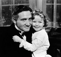 Spencer Tracy and Shirley Temple in Now I'll Tell, 1934.