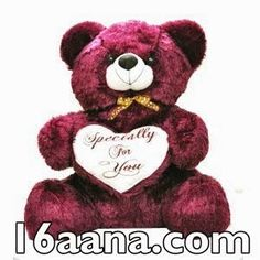 This Purple teddy bear gives a soft touch to your skin..