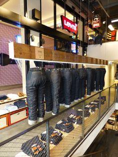 Levi's 501 Jeans timeline - Paris Champs Elysees Flagship store Jan 2013