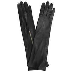 Buy Black Somerset by Alice Temperley Zip Long Leather Gloves, Black from our Women's Gloves range at John Lewis & Partners. Somerset By Alice Temperley, Black Leather Gloves, Retro Gifts, Uk Fashion, Shades Of Black, Winter Looks, Vintage Inspired, Zip, Stylish