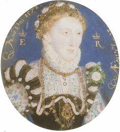Miniature of Elizabeth I by Nicholas Hilliard, 1572. (National Portrait Gallery, London)