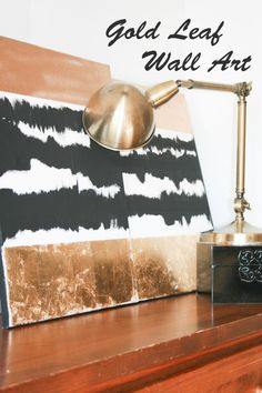 Get fancy with gold leaf. | Community Post: 22 Incredibly Easy DIY Ideas For Creating Your Own Abstract Art