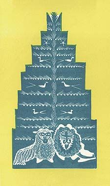 Christmas card design by Edward Bawden