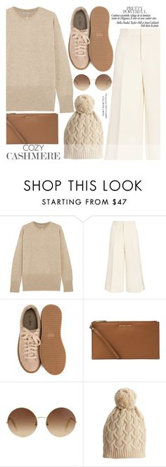 """Cozy Cashmere Sweaters"" by aislinnhamilton1993 ❤ liked on Polyvore featuring Vince, Joseph, Nly Shoes, Michael Kors, Victoria Beckham, Calypso St. Barth, sweaters and cashmere"