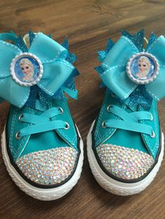 Frozen Elsa Converse Bows Set of 2 by TheLittleThingsByCB on Etsy, $14.00