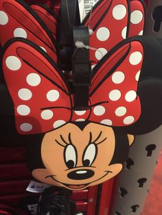 disney parks minnie mouse big face luggage bag tag new with tags