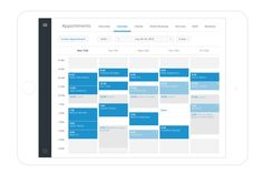 Free Appointment Scheduling Software and Booking App Calendar Ui, Calendar Design, Dashboard Design, Ui Design, Interface Design, User Interface, Appointment Calendar, Schedule Design, Daily Planner Printable