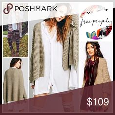 """❗️1-HOUR SALE❗️FREE PEOPLE CARDIGAN Waffle Cardi RETAIL PRICE: $128 💟 NEW WITH TAGS 💟   FREE PEOPLE Long Cardigan Waffle Knit Cardi  * Oversized, slouchy, & relaxed loose knit silhouette * Incredibly soft, stretch-to-fit textured fabric  * Button front & long dolman sleeves * Approx 26-29"""" long, Hi-lo hem  🚫No Trades🚫 ✅Offers Considered*✅ *Please use the blue 'offer' button to submit an offer ITEM#FP975 Fabric: Acrylic, polyester, 27% wool, 5% angora Color: Teak ( heather tan) Search…"""