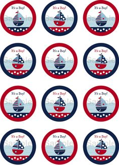 Nautical Mickey, Nautical Party, Baby Shower Parties, Baby Boy Shower, Baby Shower Marinero, Imprimibles Baby Shower, Sailor Party, Troll Party, Baby Shawer