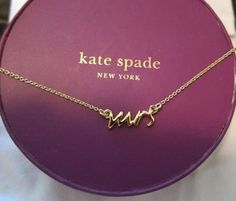 kate spade gold mrs necklace via Gift for Bride Morning of Wedding …
