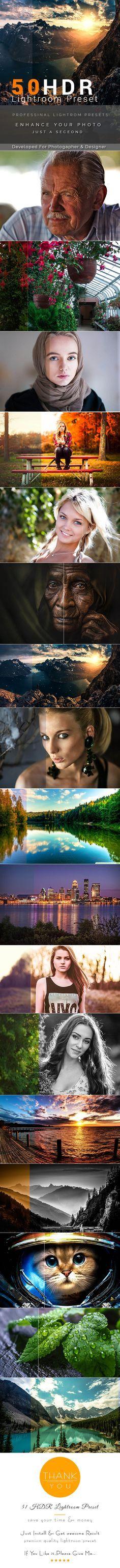 50 HDR Lightroom Preset — LRTemplate #premium effect #retouching presets • Download ➝ https://graphicriver.net/item/50-hdr-lightroom-preset/19698561?ref=pxcr