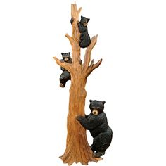 Black Bear Tree Climbing Wall Art ($190) ❤ liked on Polyvore featuring home, home decor, wall art, animals, black tree wall art, bear home decor, forest wall art, black pine tree and tree home decor