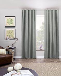 Ripple Fold Drapery by The Shade Store modern-curtains Pinch Pleat Curtains, Pleated Curtains, Dark Curtains, Modern Curtains, Grommet Curtains, Window Curtains, Drapery Styles, Custom Drapes, Custom Window Treatments