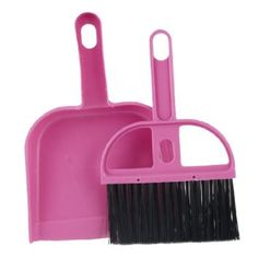 Amico Home Nylon Bristle Whisk Broom Dustpan Set Black Pink: Amazon.com: Kitchen & Dining