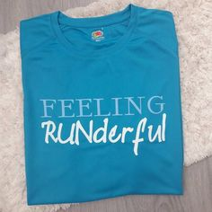Feeling Runderful, a technical top for a runner with pun slogan. Because we have all felt it, the high you get after a really great run.Style:Short Sleeve, Crew Neck T-Shirt(Vest available in a seperate listing)Colour:Choose from the drop down menu for t-shirt colour.Text will be two colours to co-ordinate with thisSize:Available in ladies and standard fit. Use the drop down menu to choose to suitMaterial:Mosture wicking poly-blendRange Used:Awd Just CoolTurnaround time:1 to 2 weeks, may be quic Slogan Tshirt, T Shirt Vest, Neck T Shirt, Running Puns, Colour Text, Online Mood Board, Shirt Colour, Couch To 5k, Great Run