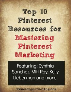 Top 10 pinterest resuorces