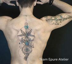 Marie Roura sur Instagram: Merci à Jordan qui est venu il y a quelques années pour le tatouage du bras. Ici un motif d'influence steampunk. Tatouage en binôme avec…