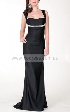 Mermaid Bateau Floor-length Satin Natural Formal Dresses gt3059--Hodress