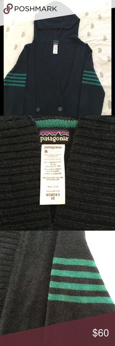 NWOT Patagonia Wool Hooded Cardigan NWOT Patagonia hooded button up cardigan. Never worn. Trying to make room in my closet. 80% lambswool 20% nylon. Very soft and not very itchy. Cute and casual Patagonia Sweaters Cardigans