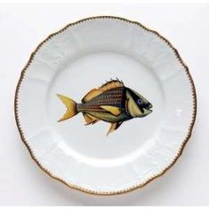 Anna Weatherley Antique Fish 9.5 In Dinner Plate No. 6