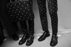 Dior Homme AW14 Backstage- dots