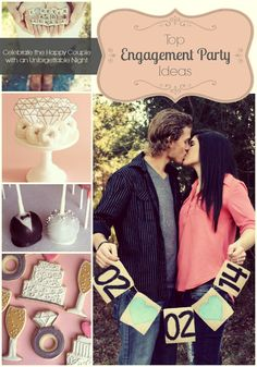 Take a look at these top engagement party idea's!