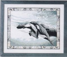 Picture of finished amazing orca whale project Cross Stitch Sea, Cross Stitch Boards, Cross Stitch Animals, Dmc Embroidery Floss, Cross Stitch Embroidery, Cross Stitch Patterns, Orcas, Cross Stitching, Painting