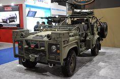Land rover Defender Military war preparation.