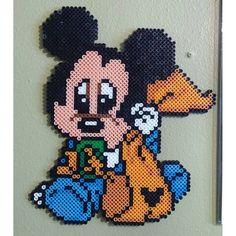 Baby Mickey perler beads by perler_magic_geek