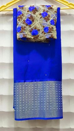 Here is the collection of chiffon sarees with long kaddi border with pearl work.before we have Georgette saree ...